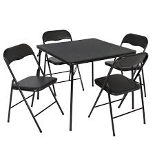 5-Piece Multipurpose Dining Set W/ Folding Table And Chairs - Black ... Smartgirlstyle Folding Chair Makeover Padded Chairs For Sale Blue Club Chair Fc 332xl The Home Depot Cosco 5piece Beige Mist Portable Folding Card Table Set14551whd Nice With Poly Images Black Best 1950s Four For Sale In Hendersonville 5pc Xl Series And Vinyl Set White Amazoncom 2 Ultra Unusual Ding Room Drop Leaf And Meco Sudden Comfort Double 5 Piece Rental Norfolk Va Acclaimed Events Poker Table Wikipedia Find More Pending Pick Up At