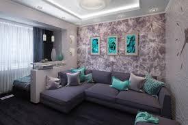 3d visualisierung wohnzimmer kombiniert mit schlafbereich in