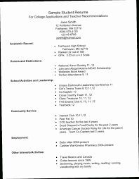 High School Resume For College 9XOV Example Students Applications
