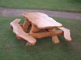 picnic table wooden all about house design best round wood