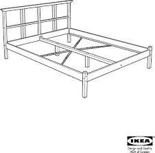 Ikea Bed Frame Queen by Download Ikea Dalselv Bed Frame Queen Assembly Instruction For