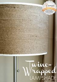 DIY Twine Wrapped Lampshade At Anightowlblog