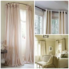 Blockaide Double Curtain Rod by Elegant How To Make A Wrap Around Curtain Rod Curtain Menzilperde