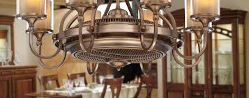 Unique Ceiling Top Fab Fans Crystal Chandelier Fan Combo Sconces Dining Room Design