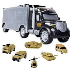 100 Toy Car Carrier Truck WolVol Military Transport Rier With Army Battle S Choppers S Inside Great For Kids Who Love Action And Vehicles