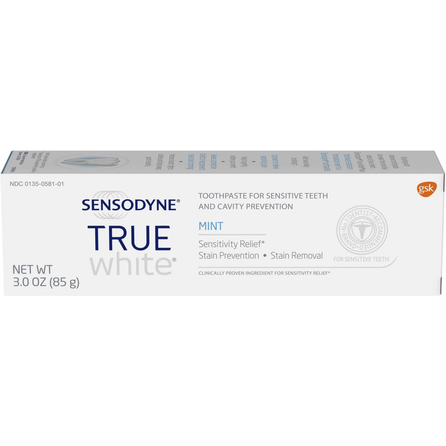 Sensodyne True White Toothpaste - Mint, 85g