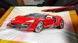 Sketch of Lykan Hypersport car in Fast n Furious 7 by iicepink on