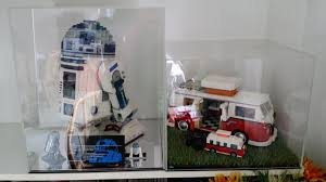 Side By With The LEGO Volkswagen Camper Van Display