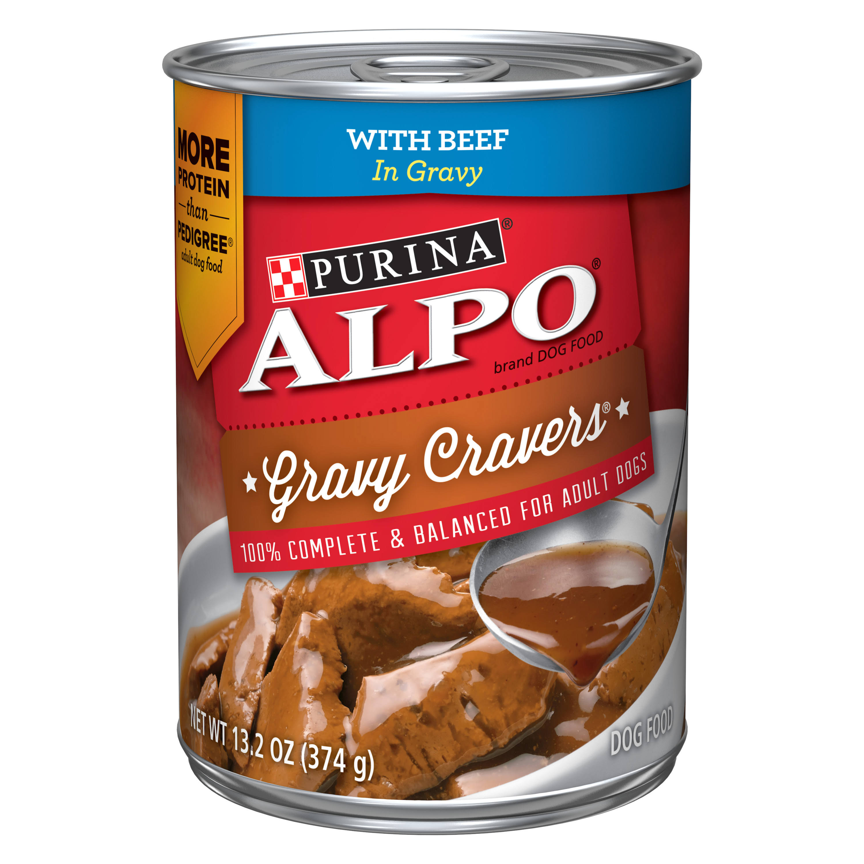 Purina Alpo Prime Slices Dog Food - with Beef in Gravy, 13.2oz
