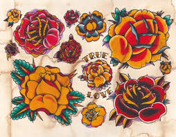 Classic Yellow Rose Tattoo Traditional Simple