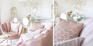 shades of pink wohnzimmer in rosa samt instashop