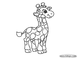 Cute Giraffe To Print Coloring Pages Kids