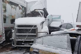 100 Ups Truck Accident Snow Squall Causes Massive Pileups In New York Pennsylvania