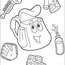 Tico The Squirrel Backpack Coloring Page