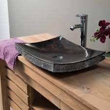 vasque à poser en marbre gênes rectangle d 50 cm