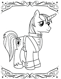 Download My Little Pony Coloring Page Pages Ponytail Free Online Printable Full Size