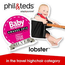 Phil And Teds Lobster High Chair Amazon by Phil And Teds Lobster Travel Highchair Black And Red Kiddicare Com