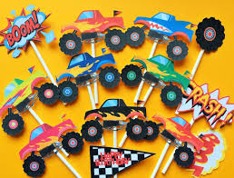 12 Monster Truck Cupcake Toppers, Monster Truck Toppers, Monster ... Monster Truck Cupcake Toppers Wrappers Etsy Blaze And The Machines Edible Image Cake Topper Amazoncom Monster Toppers Party Krown 24 Jam Rings Cupcake Toppers Cake Birthday Party Favors Truck Mudslinger Boys Birthday Party Cupcake Wrappers And Easy Cakes Ideas Classic Style Decoration Little Birthday Personalised Icing Gravedigger Byrdie Girl Custom