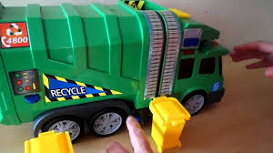Awesome DICKIE TOYS RECYCLING GARBAGE Truck Toy Unboxing - YouTube