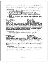 Federal Social Worker Resume Writer Sample