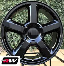 100 20 Inch Truck Rims X85 Inch Chevy LTZ OE Replica Wheels Gloss Black Fit