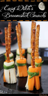 Halloween Appetizers For Adults by Witch U0027s Broomstick Snacks Easy Halloween Party Snacks Recipe