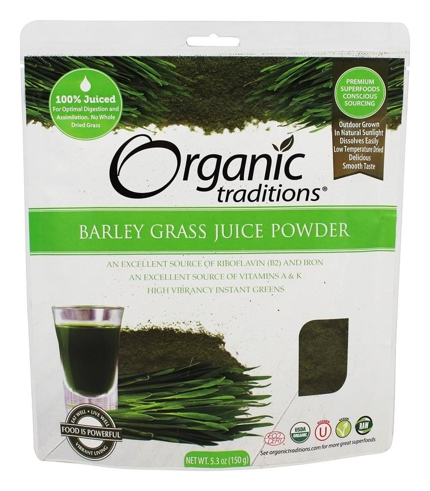Organic Traditions Barley Grass Juice Powder - 5.3oz