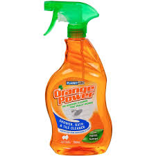 orange power bathroom cleaner shower bath tile 750ml woolworths