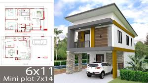 100 Villa House Design Small Home Plan 6x11m With 3 Bedrooms Exterior Home