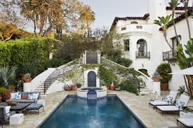 Spanish Colonial Revival Interior Design Los Angeles Style Homes Courtyard Full Size