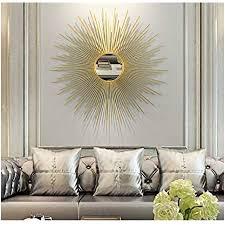 cjy mirror runde sunburst wandspiegel für wohnzimmer große runde spiegel gold dekorative wand montierbar shabby chic home decor wandspiegel für flur
