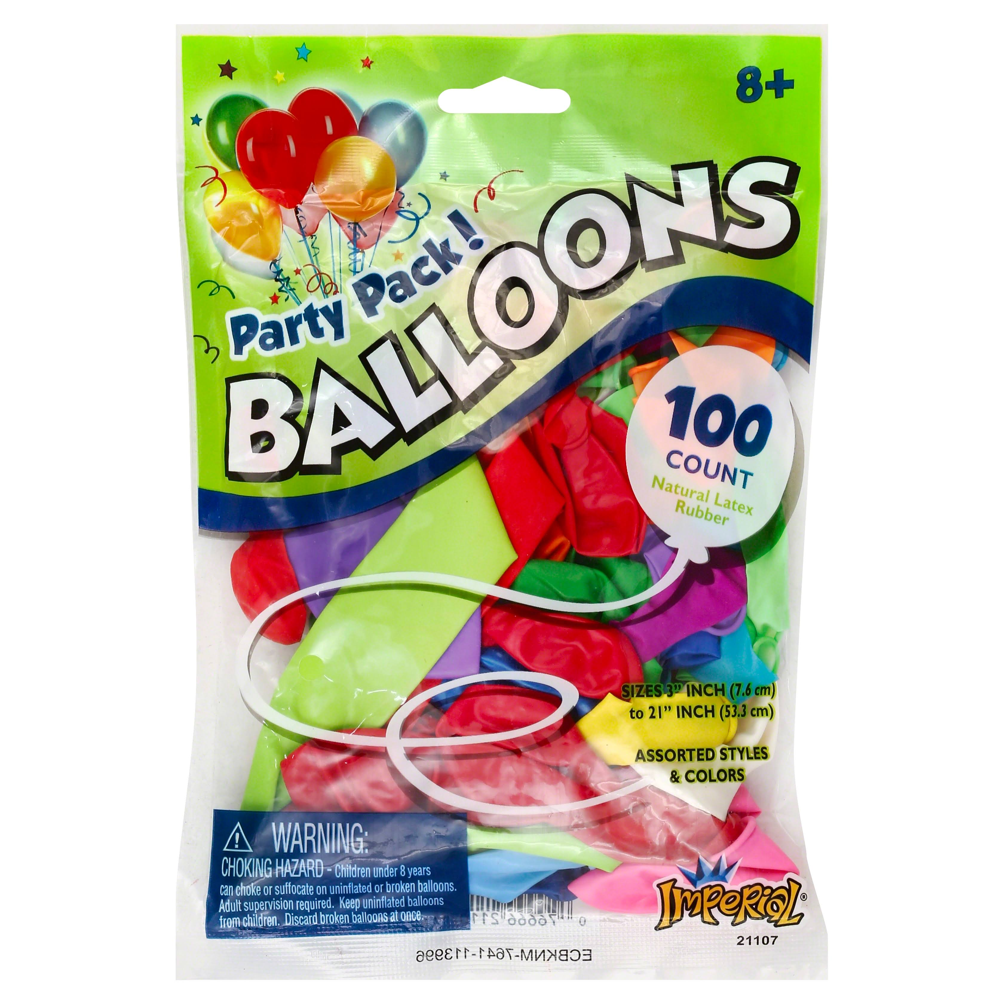 Imperial Toy 21107 Balloons - 100pk