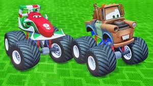 Disney McQueen's Friends Tow Mater & Francesco Monster Trucks Crazy ...