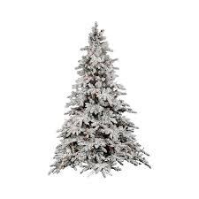 Pre Lit Multicolor Christmas Tree Canada by Shop Vickerman 6 5 Ft Pre Lit Flocked Artificial Christmas Tree