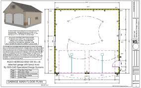 30x30 2 Bedroom Floor Plans by G433 Herrold 8002 129 30 X 30 Detached Garage With Bonus Truss