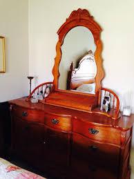 Tiger Oak Dresser Beveled Mirror by Best Lexington Victorian Sampler Triple Dresser U0026 Two Nightstands