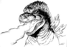 Godzilla Dangerous Fire Breath Coloring Pages