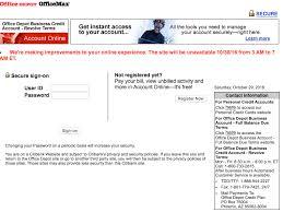 fice Depot Business Credit Card Login