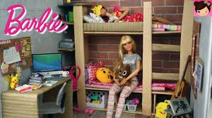 barbie bunk bed bedroom morning routine barbie doll house toys