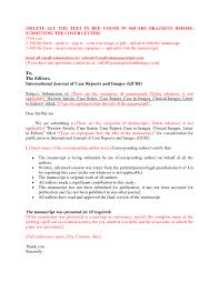 Cover Letter Sample For Manuscript Submission Tomyumtumweb