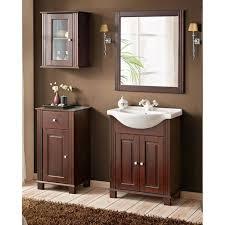 badezimmer badmöbelset inkl 65 cm keramik waschbecken aveiro 56 im landhausstil pinie massivholz braun b h t ca 126 180 43cm
