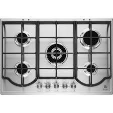 plaque cuisine gaz plaque de cuisson gaz 5 foyers inox electrolux egh7353box leroy
