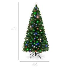 Small Fiber Optic Christmas Tree With Ornaments by 7ft Fiber Optic Artificial Christmas Tree W Ul Certified Lights
