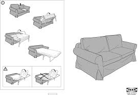 download ikea ektorp sofa bed cover assembly instruction for free