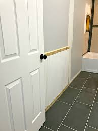 bathroom next steps which wainscoting look from thrifty decor