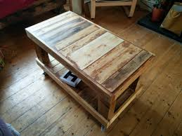 Coffee Table Made Out Of Scrap Wood Someone Dumped On My Street Bits A Cheap Bed Frame Maybe And Load Pallet I Had Lying Around