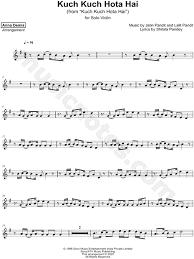 demis kuch kuch hota hai sheet violin in