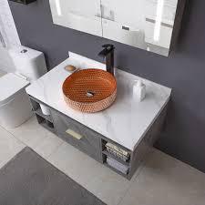 waschbecken modern aus glas rund d 40cm für bad