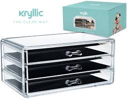 Vanity Dresser Set Accessories by Amazon Com Acrylic Jewelry Cosmetic Vanity Organizer Great Box