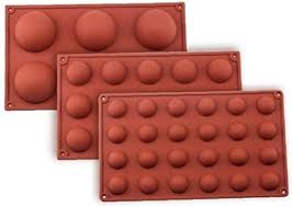 angoter 6 loch kugel bereich silikon form für kuchen gebäck backen praline fondant bakeware runder form dessert mold dekor